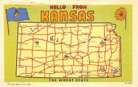 sub014061 - Hello from Kansas USA Postcard