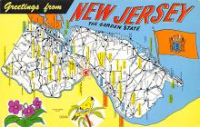 sub014067 - Greetings from New Jersey USA Postcard