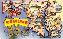 sub014075 - Greetings from Maryland USA Postcard