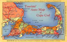 sub014077 - Tourists' Auto Map of Cape Cod USA Postcard