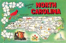 sub014085 - Greetings from North Carolina USA Postcard