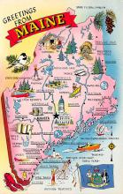 sub014089 - Greetings from Maine USA Postcard