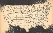sub014099 - United States Map USA Postcard