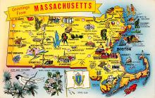sub014101 - Greetings from Massachusetts USA Postcard