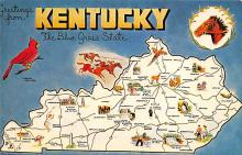 sub014103 - Greetings from Kentucky USA Postcard