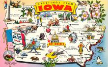 sub014111 - Greetings from Iowa USA Postcard