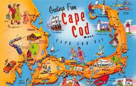 sub014113 - Greetings from Cape Cod, MA USA Postcard