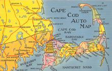 sub014119 - Cape Cod Auto Map USA Postcard