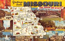 sub014137 - Greetings from Missouri USA Postcard