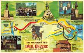 sub014139 - The Midnight Ride of Paul Revere USA Postcard