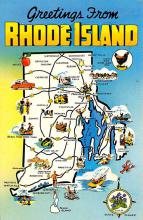 sub014145 - Greetings from Rhode Island USA Postcard