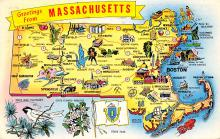 sub014147 - Greetings from Massachusetts USA Postcard