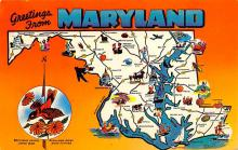 sub014151 - Greetings from Maryland USA Postcard