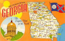 sub014165 - The Peach State, Georgia USA Postcard