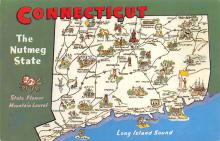 sub014173 - Connecticut, The Nutmeg State USA Postcard