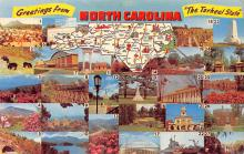 sub014177 - Greetings from North Carolina USA Postcard