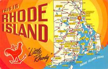 sub014191 - This is Rhode Island, Little Rhody USA Postcard