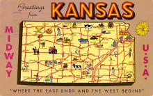 sub014195 - Greetings from Kansas USA Postcard