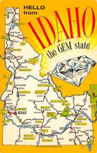sub014201 - Hello from Idaho, The Gem State USA  Postcard