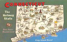 sub014215 - Connecticut, The Nutmeg State USA Postcard