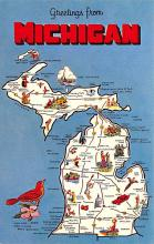 sub014223 - Greetings from Michigan USA Postcard