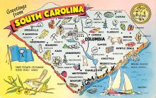 sub014245 - Greetings from South Carolina USA Postcard