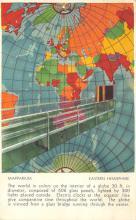 sub014263 - Globe, Eastern Hemisphere    Postcard