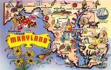 sub014269 - Greetings from Maryland USA Postcard