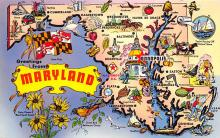 sub014271 - Greetings from Maryland USA Postcard