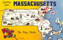 sub014277 - Greetings from Massachusetts USA Postcard