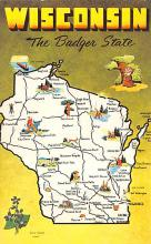 sub014287 - Wisconsin The Badger State, USA  Postcard