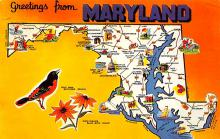 sub014289 - Greetings from Maryland, USA  Postcard