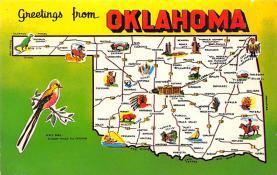 sub014291 - Greetings from Oklahoma, USA  Postcard