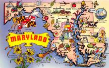 sub014293 - Greetings from Maryland, USA  Postcard