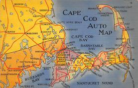 sub014299 - Cape Cod Auto Map USA Postcard