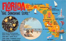sub014305 - Florida, The Sunshine State USA Postcard