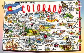 sub014307 - Greetings from Colorado, USA USA Postcard