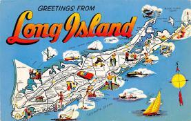 sub014311 - Greetings from Long Island USA Postcard