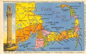sub014321 - Cape Cod Auto Map  Postcard