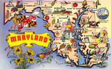 sub014323 - Greetings from Maryland, USA  Postcard