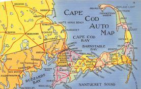 sub014327 - Cape Cod Auto Map  Postcard