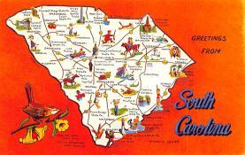 sub014339 - Greetings from South Carolina, USA  Postcard