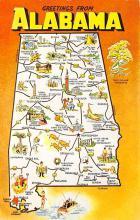 sub014341 - Greetings from Alabama, USA  Postcard