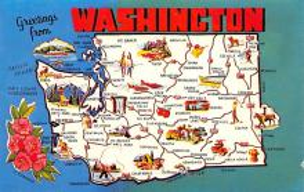 sub014345 - Greetings from Washington, USA  Postcard