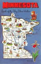 sub014349 - Minnesota, Land of the Sky Blue Water  Postcard