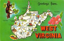 sub014353 - Greetings from West Virginia, USA  Postcard