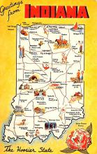 sub014359 - Greetings from Indiana, USA  Postcard