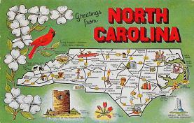 sub014365 - Greetings from North Carolina, USA  Postcard