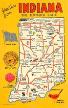 sub014375 - Greetings from Indiana, USA  Postcard