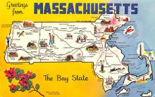 sub014381 - Greetings from Massachusetts, USA  Postcard